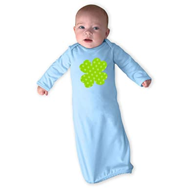 f8113e5421eb Amazon.com  Clover Light Green Dots Print Cotton Newborn Sleeping ...