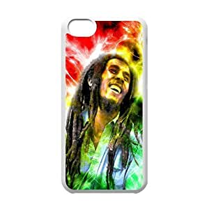 LJF phone case C-EUR Print Bob Marley Pattern Hard Case for ipod touch 4