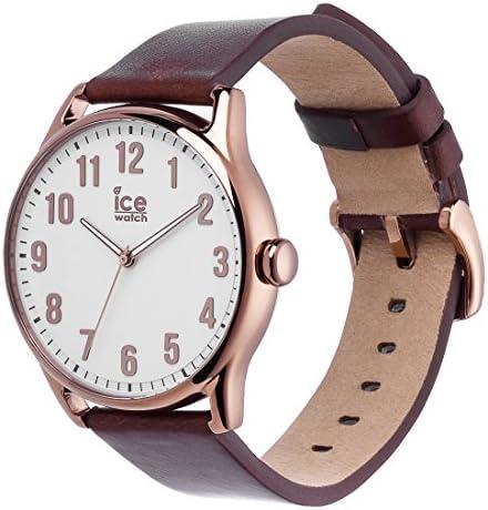 Ice-Watch - ICE time Brown White - Montre marron pour homme avec bracelet en cuir - 013047 (Large)