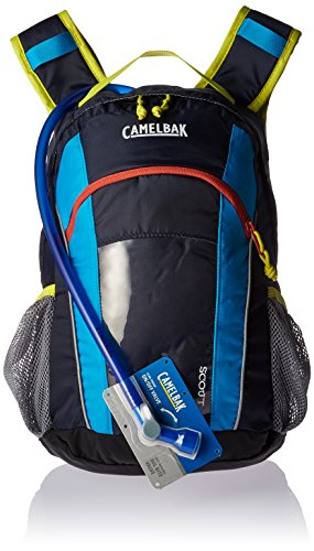 CamelBak Scout Kids Crux Reservoir Hydration Pack, Navy Blazer/ Atomic Blue, 1.5 L/50 oz (Camelbak Water Packs)