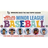 2018 Topps Heritage Minor League Baseball Hobby Box (18 Packs/8 Cards: 1 Auto, 1 Jersey)