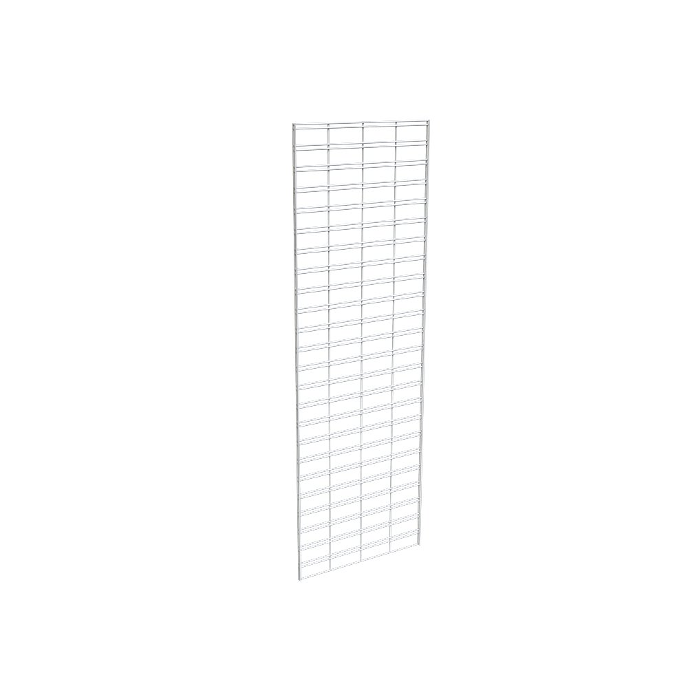 Econoco Metal Slat Grid for Any Retail Display, 2' Width x 6' Height, 3 Grids Per Carton (White)