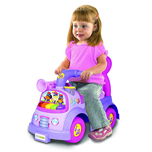 fisher-price little people music parade ride on, purple