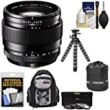 Fujifilm 23mm f/1.4 XF R Lens with 3 UV/CPL/ND8 Filters + Backpack + Tripod Kit for X-A2, X-E2, X-E2s, X-M1, X-T1, X-T10, X-Pro2 Cameras