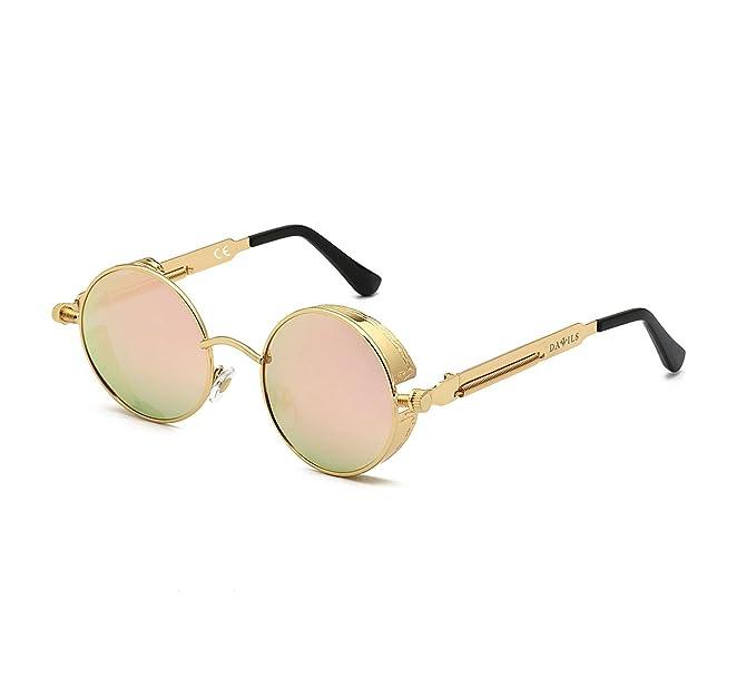 06ec1f2695 DAWILS Mujer Redondas Gafas de Sol Polarizadas Estilo John Lennon Retro  Espejadas Lentes Marco Metálico: Amazon.es: Ropa y accesorios