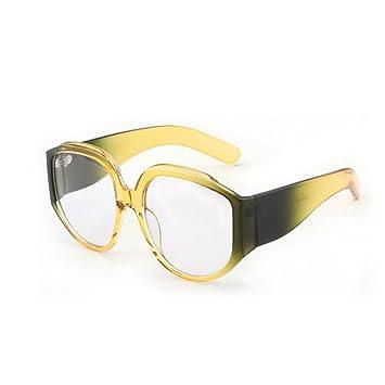 HONEY Lunettes de soleil de personnalité pare-soleil style européen et américain - Retro Women's Glasses - Large Frame ( Couleur : A ) UOHF5YE4r