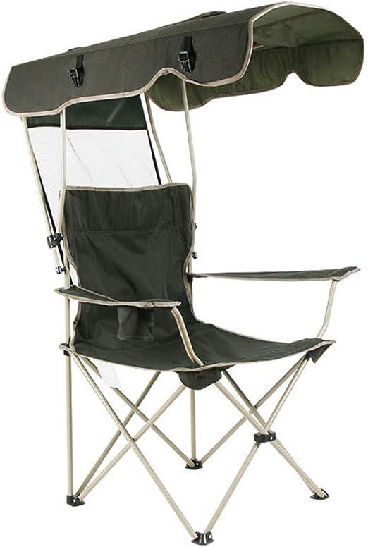 KQYAN- Campingtisch Mesa Plegable de Camping Mesa Sombra portátil Silla con Dosel Silla de jardín Plegable para Pescar para Acampar, configuración rápida y Pliegue: Amazon.es: Jardín