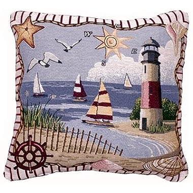 Coastal Memories Decorative Tapestry Toss Pillow