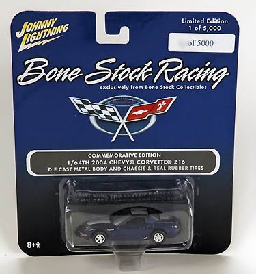 Bone Street Racing Commemorative Edition 1/64th 2004 Chevy Corvette Z16 - Die Cast Metal Body and Chassis & Real Rubber Tires - Limited Edition Only 5,000 Made