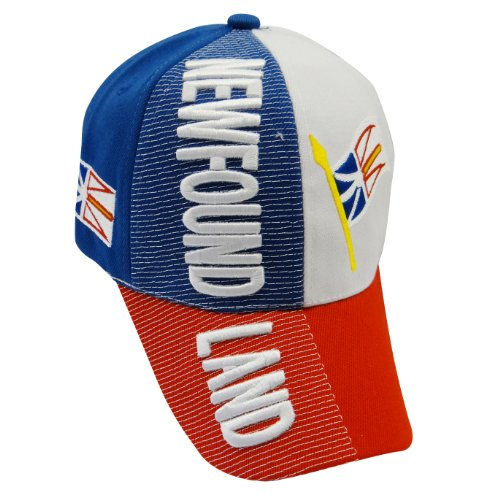 Newfoundland Canada Country Flag Embossed Hat Cap. Great Quality Adult New
