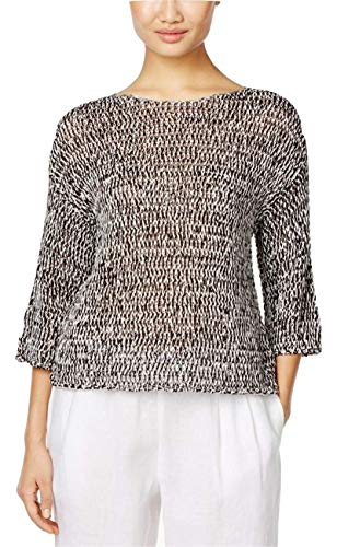 Eileen Fisher Petite Sweater - Eileen Fisher Organic Cotton-Blend Boxy Top, Regular & Petite