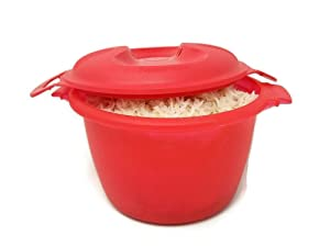 Tupperware MICROWAVE Rice Maker Cooker Steamer
