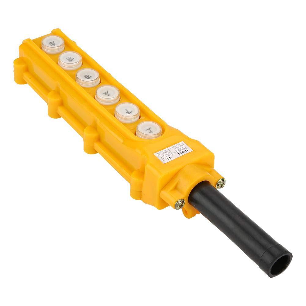 Interruptor de Bot/ón Cadena de lluvia Cadena de 6 Cadenas Gr/úa Elevador Izquierda Interruptor de Encendido Interruptor de Encendido