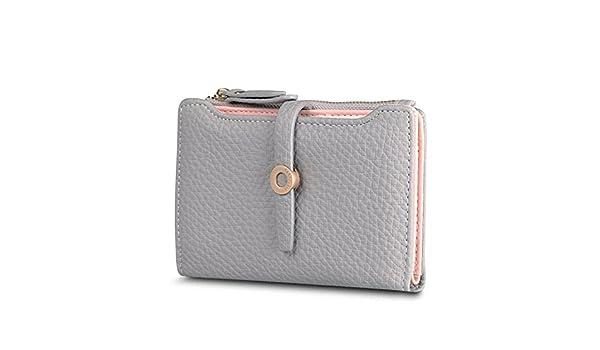 Amazon.com: LOKOUO Women Wallet Fashion Girls Change Clasp Purse Money Coin Card Holders wallets Carteras BlackOne Size: Shoes