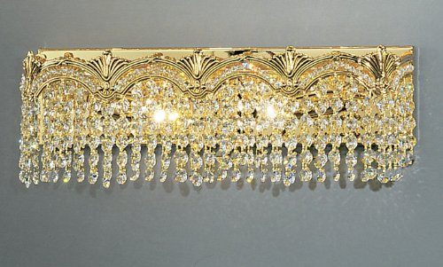 Classic Lighting 1851 G S Regency II, Crystal, Vanity Lighting, 24k Gold Plate