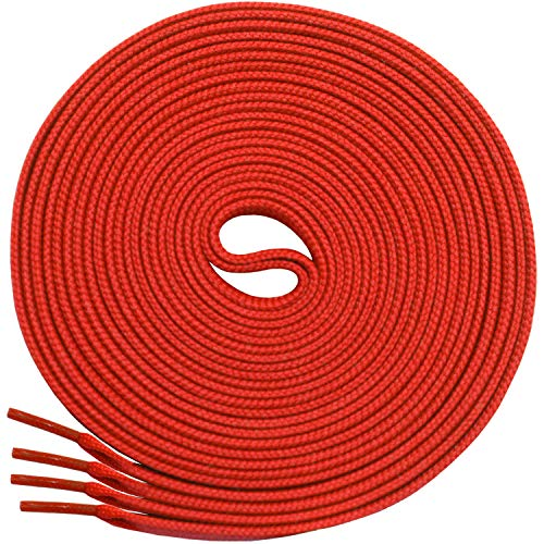 Heavy Footwear Duty (Miscly Flat Shoelaces [3 Pairs] 5/16