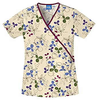 Scrub HQ Women's Patched-Pocket Mock Wrap Top_Clover Park_XXXX-Large,4826
