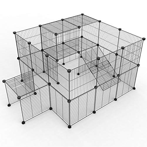 Animals 12Panels Metal Portable Pet Play Fence Cage Kennel Crate for Small Dogs