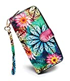 LOVESHE is a good choice. It can hold driver's license, credit cards, phone, etc. So elegant and holds everything so well while keeping its streamline shape. This wallet will make you more organized and super easy to carry around with everything you ...