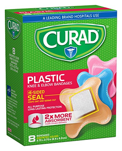 Curad Knee and Elbow Bandages, 8-Count (Pack of 6) ()