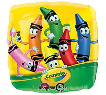 crayola crayons 17 square mylar balloon - Cartoon Pictures Of Crayons
