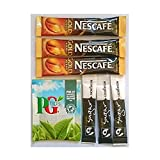 50 PG Tips, 50 Gold Blend and 100 White Sugar Sticks - Individually Wrapped P...