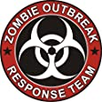 "Zombie Outbreak Response Team Cool Vinyl Decal Bumper Sticker (Decal Kingz) 5""x5"""