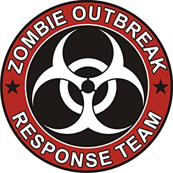 Zombie outbreak response team cool vinyl decal bumper sticker decal kingz 5x5