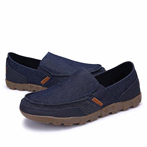Maxu Mens Slip-on Mocassino Casual Driving Shoes Blu Scuro