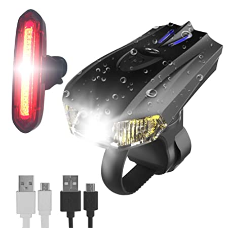 WINGLESCOUT Luces de Bicicleta LED USB, Super Brillante ...