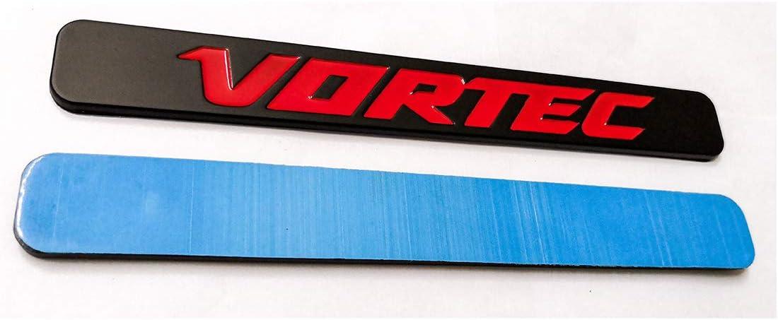 Black Red 2pcs Vortec Emblems Badge 3D Replacement for Chevrolet 2500hd GMC Sierra Silverado Gm Truck Liter Badge