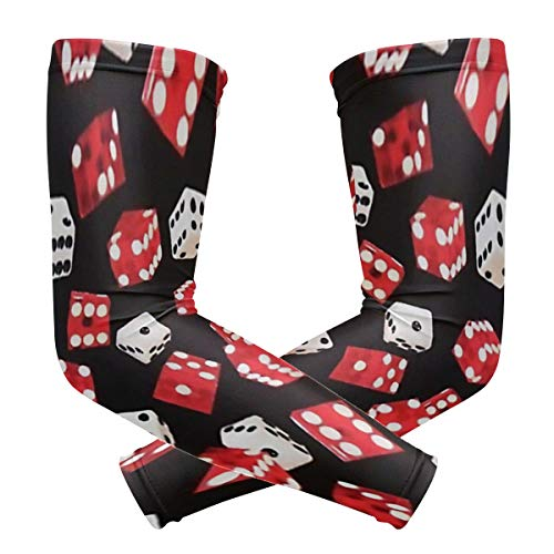 Unisex Fake Tattoo Arm Sleeves Game Of Chance Casino Dice with Novelty Pattern and Ice Material for Training and Outfit]()