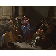 The Polyster Canvas Of Oil Painting 'Bernardo Cavallino Christ Driving The Traders From The Temple ' ,size: 12 X 15 Inch / 30 X 38 Cm ,this High Definition Art Decorative Canvas Prints Is Fit For Home Office Decor And Home Decoration And Gifts