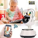 Hanbaili WiFi Wireless Ip Camera, Surveillance Camera V380 Cam 3.6MM Lens Home Security 1080P HD Webcam WiFi Ip Camera
