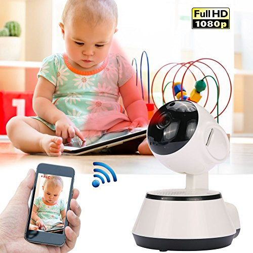 Hanbaili (US Plug) Baby Guard Mobile Surveillance Camera, V380 1080P wifi Network Wireless Camera Baby Monitoring Shaking Head Machine Remote Monitoring (Moving Head System)