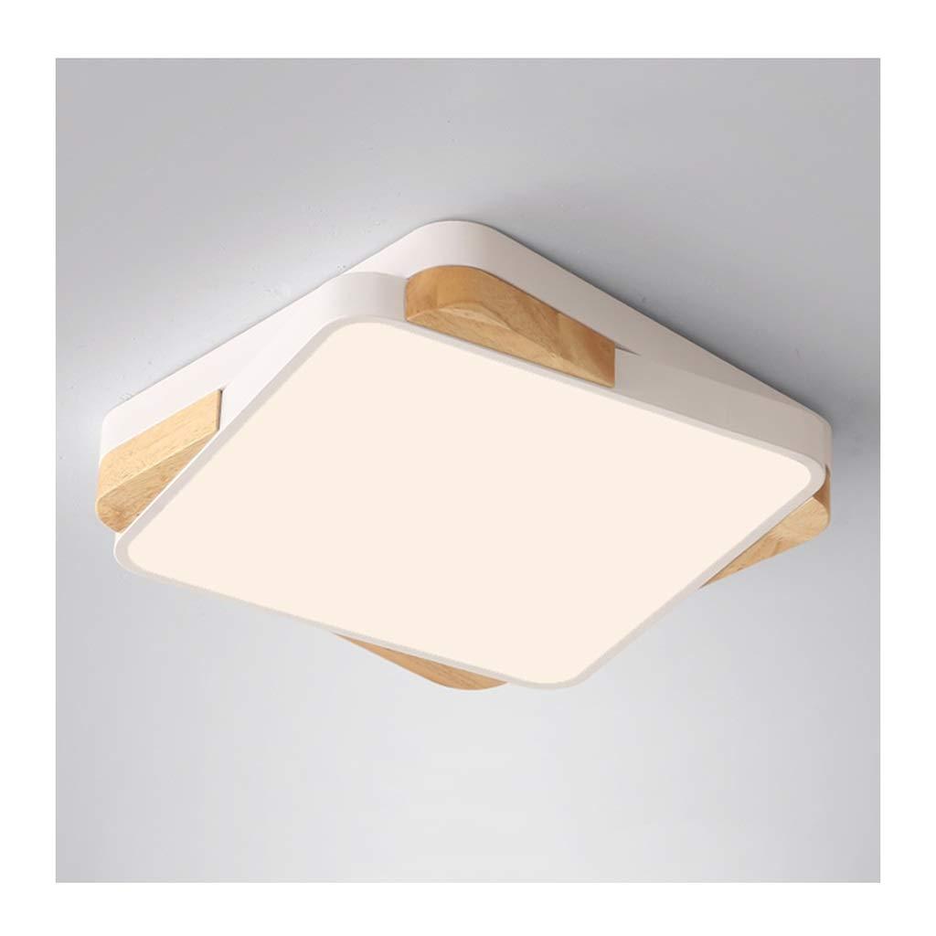 天井照明 シーリングライト - 北欧クリエイティブシーリングランプ、LED調光対応アイアンウッドアート、リビングルームの装飾研究寝室ダイニングルームの照明 シーリングライト (Color : Three-color dimming, Size : 40cm) 40cm Three-color dimming B07T4H1Y1Q