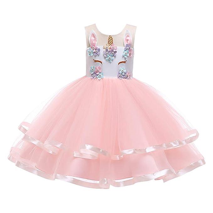 TENDYCOCO Unicornio Vestido de tutú para niñas, Fiesta de ...