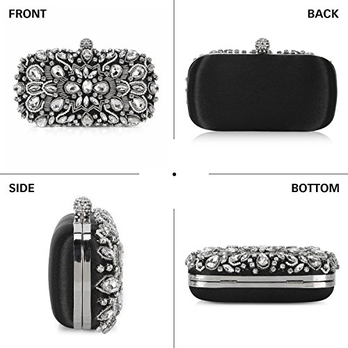 Chichitop Wedding Crystal Bag Purse Evening Noble Black Women Beaded Clutch 2 rqHY4fr