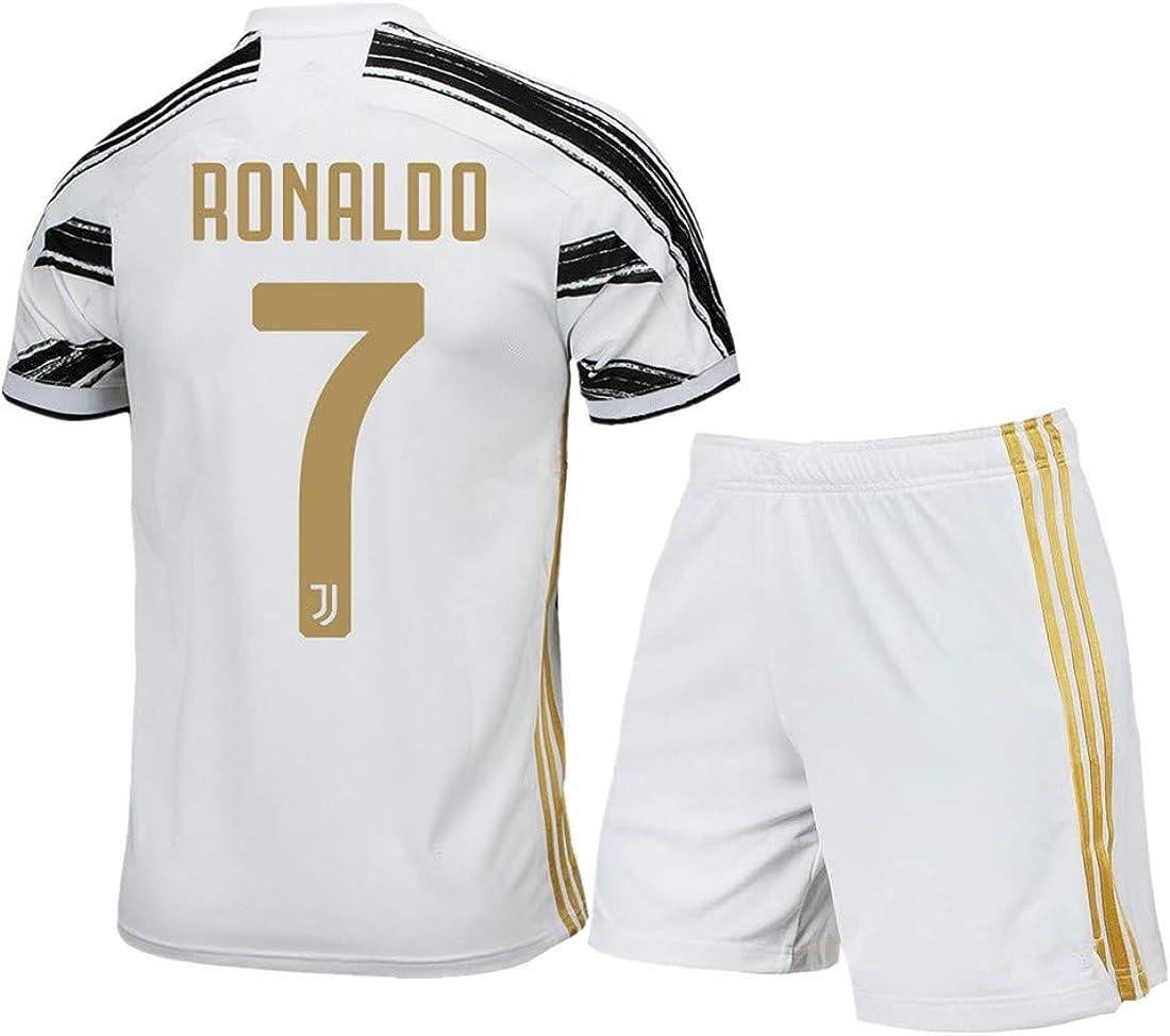 #7 Ronaldo Home Kids/Youth 2020-2021 Season Soccer Shirt Shorts