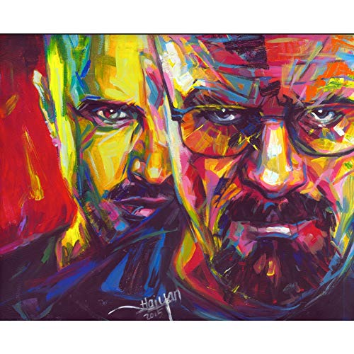 Breaking Bad Heisenberg 3D Poster Wall Art Decor Print   11.8 x 15.7   Lenticular Posters & Pictures   Merchandise Gifts for Guys & Girls Bedroom   Walter White & Jesse Pinkman Popular TV Show Series