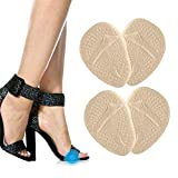 Metatarsal Pad, 2 Pairs Anti-slip Ball of Foot Cushions Pads Inserts Gel Forefoot Insoles for Women High Heels Sandals Pumps, Relieve Metatarsal Foot Pain