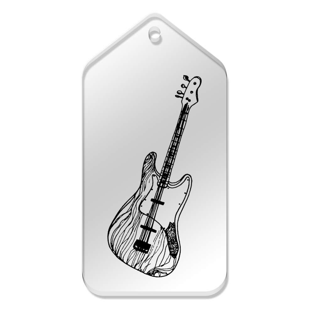 Azeeda 10 x Grande Guitarra Eléctrica Etiquetas claras DE 99 mm x 51 mm (TG00053264): Amazon.es: Juguetes y juegos