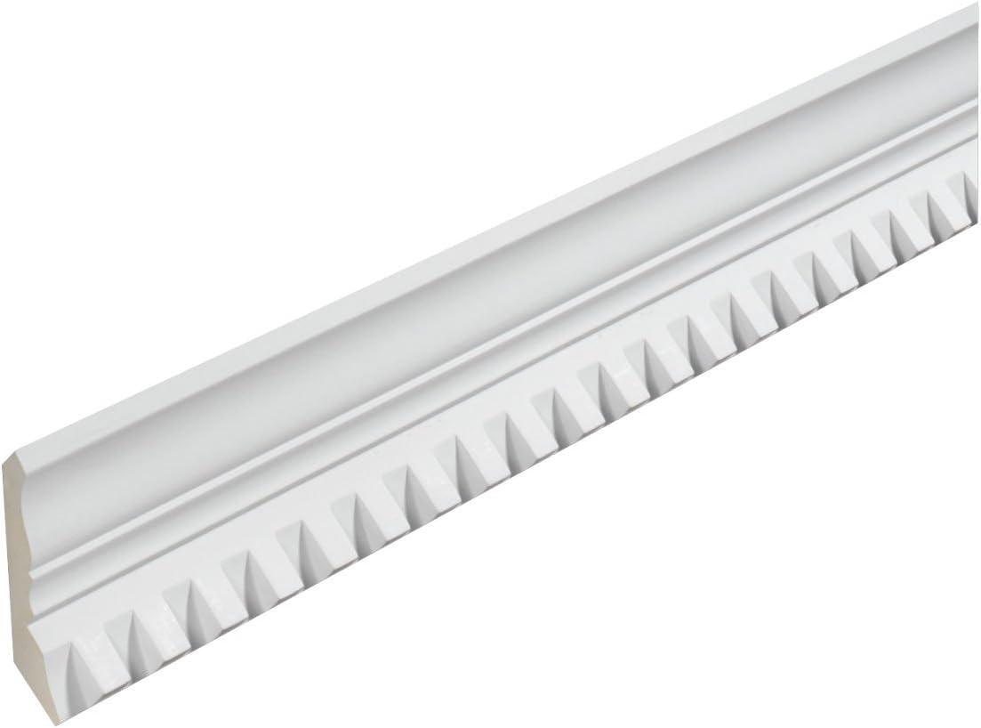 16 Length Fypon MLD404-16 3 3//4H x 3 3//4T//S x 2 1//2P Crown Dentil Moulding