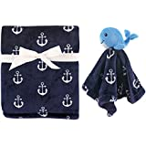 Hudson Baby Plush Blanket & Security Blanket, Nautical...