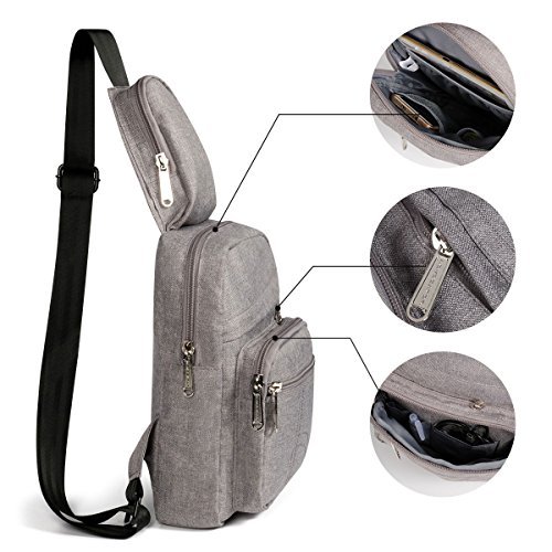 Bags Geometric Chest IPAD Advocator Pack Travel Backpacks Satchel Grey1 Gym Sports Printing Casual Unbalance Cycling Sling Single Outdoor Shoulder Crossbody Women Geometric Flower Hiking Fanny Bag q1qpE
