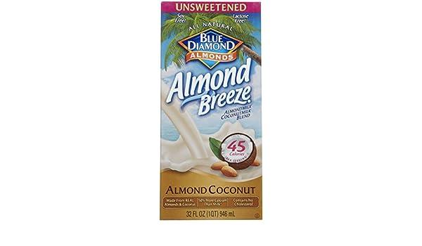 Blue Diamond Growers - leche de almendras sin azúcar coco almendra - 32 oz la brisa.: Amazon.es: Alimentación y bebidas