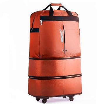 Maleta con ruedas universal plegable Bolsa de asas enrollable de 4 ruedas, grande, expandible