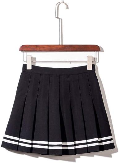 Falda plegable para niñas y mujeres, uniforme escolar, cintura ...