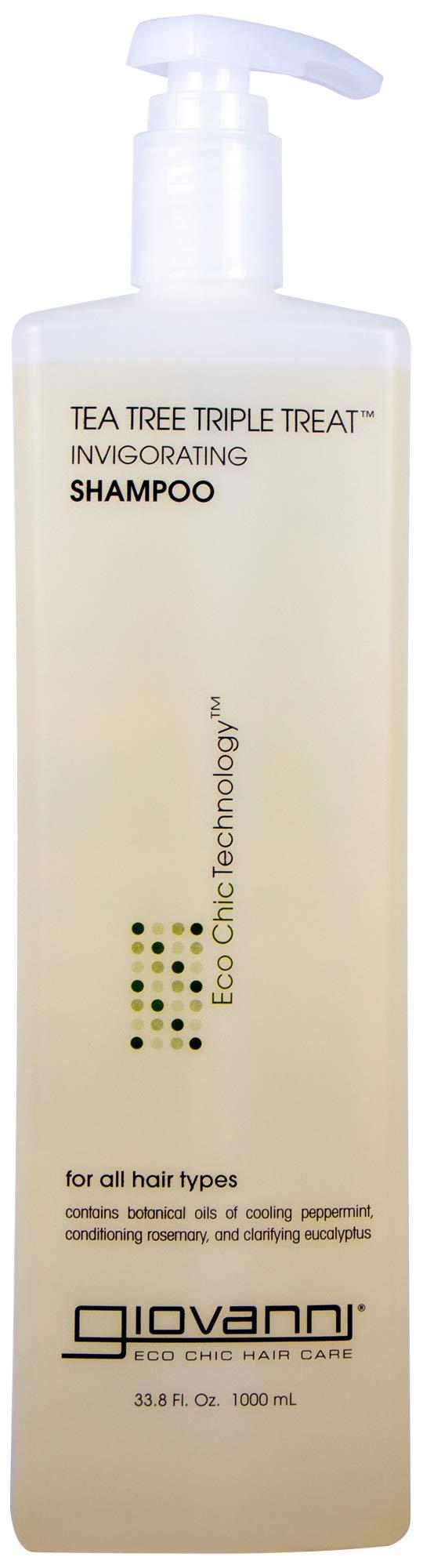 Giovanni Eco Chic Tea Tree Triple Treat - Invigorating Shampoo (33.8 Ounce) by GIOVANNI (Image #1)