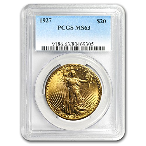 1927 $20 Saint-Gaudens Gold Double Eagle MS-63 PCGS G$20 MS-63 PCGS